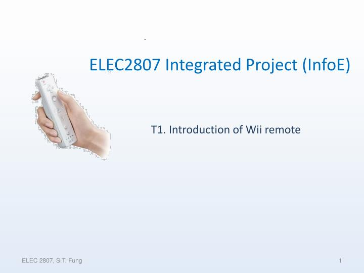 T1 introduction of wii remote