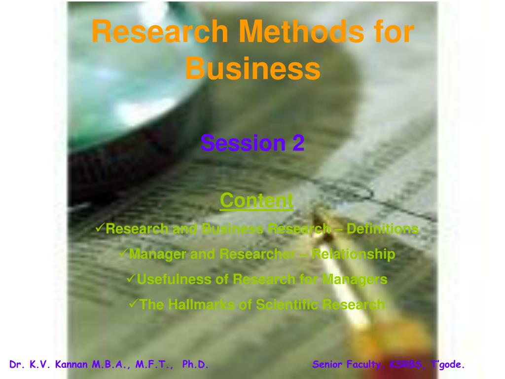 research methods for business l.