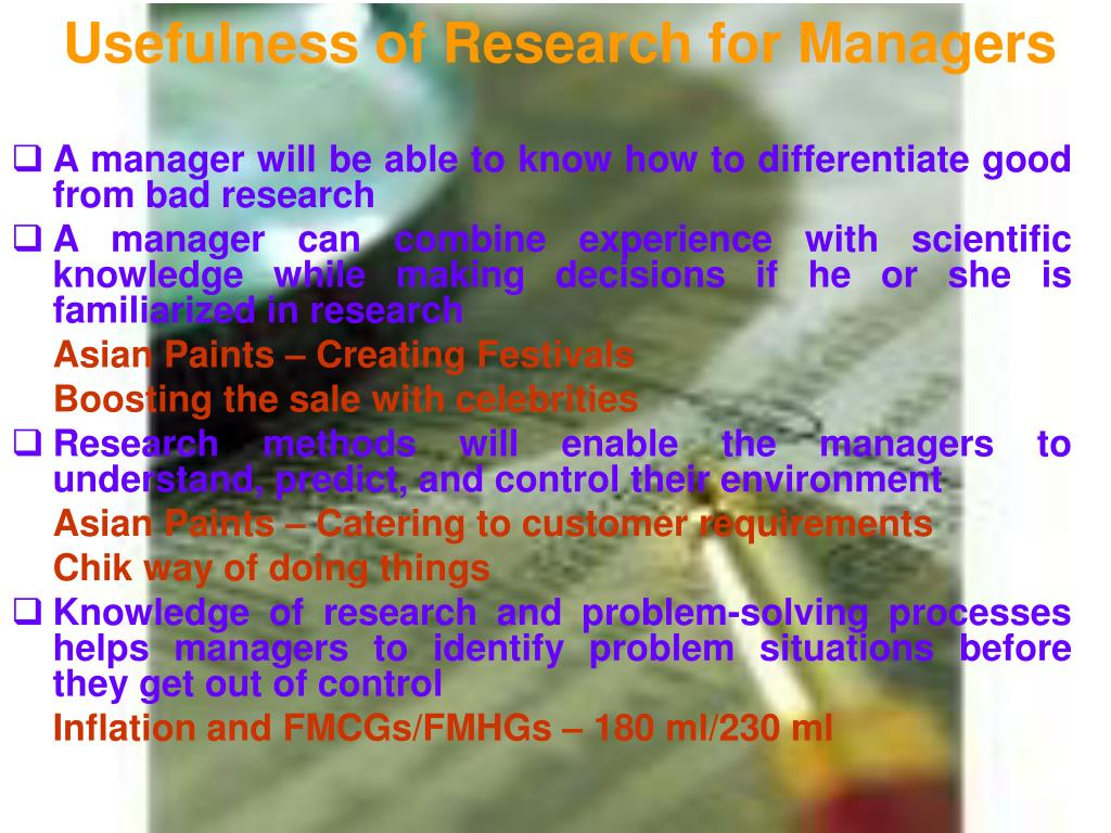 Usefulness of Research for Managers