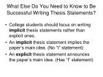 what else do you need to know to be successful writing thesis statements