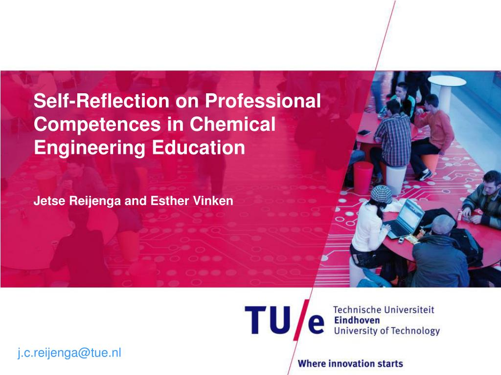 self reflection on professional competences in chemical engineering education l.