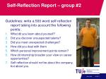 self reflection report group 2