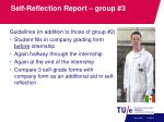 self reflection report group 3