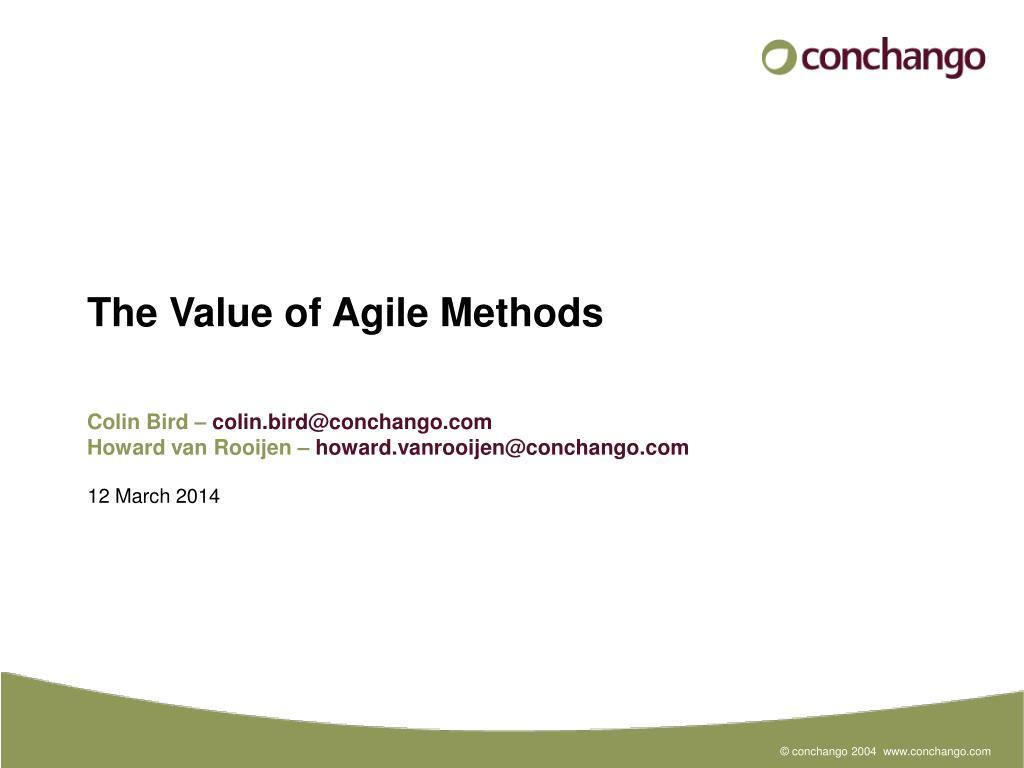 the value of agile methods l.