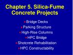 chapter 5 silica fume concrete projects