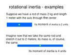 rotational inertia examples
