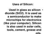uses of silicon
