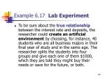 example 6 17 lab experiment