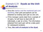 example 6 19 dyads as the unit of analysis54