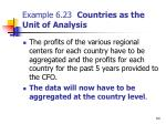 example 6 23 countries as the unit of analysis60