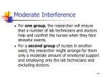 moderate interference30