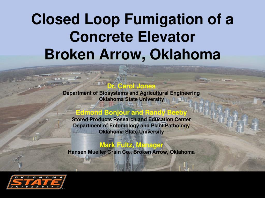 closed loop fumigation of a concrete elevator broken arrow oklahoma l.