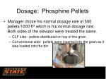dosage phosphine pellets