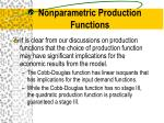 nonparametric production functions