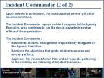 incident commander 2 of 2
