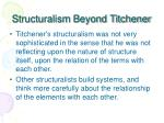 structuralism beyond titchener