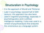 structuralism in psychology
