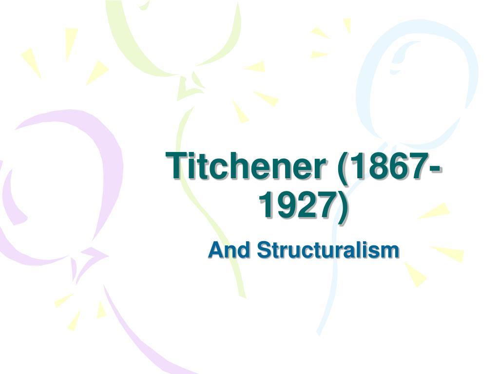 titchener 1867 1927 l.