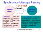 synchronous message passing channel