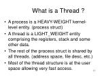 what is a thread1