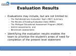 evaluation results13