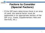 factors to consider special factors16