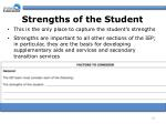 strengths of the student