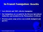 in transit fumigation benefits