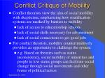 conflict critique of mobility