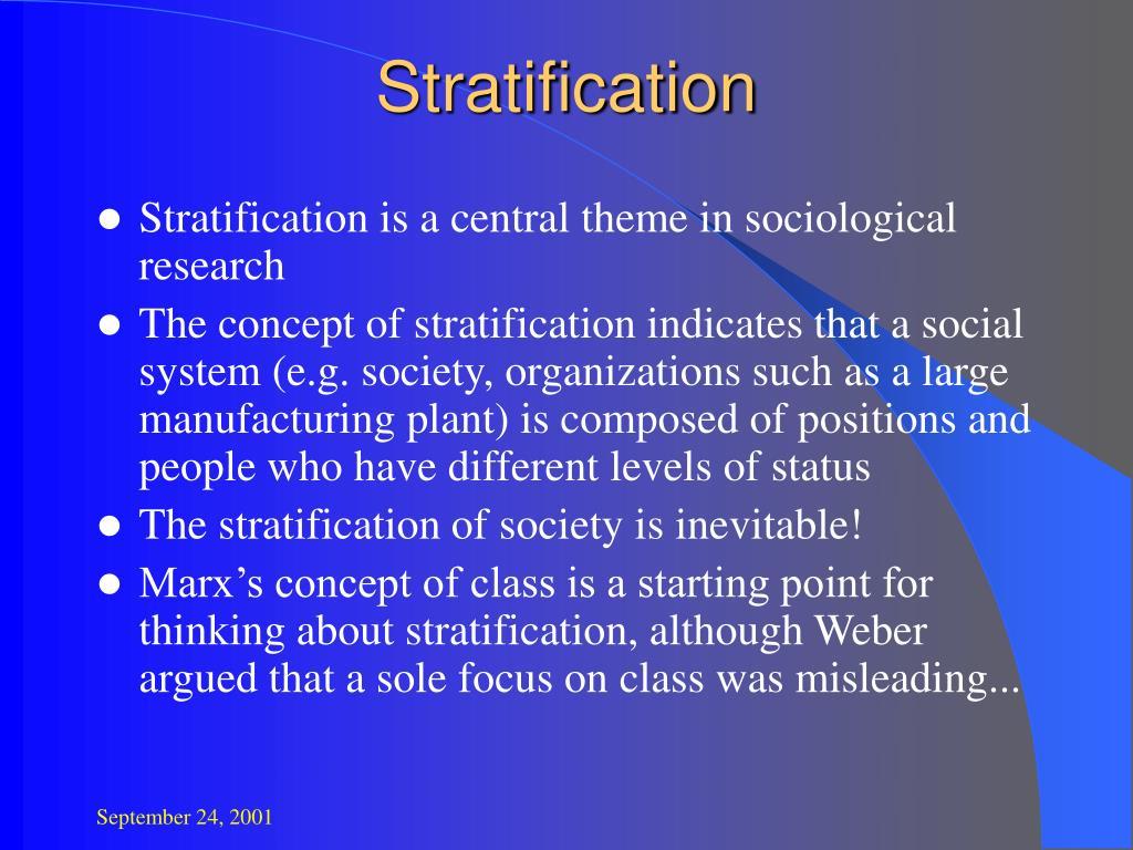 stratification l.