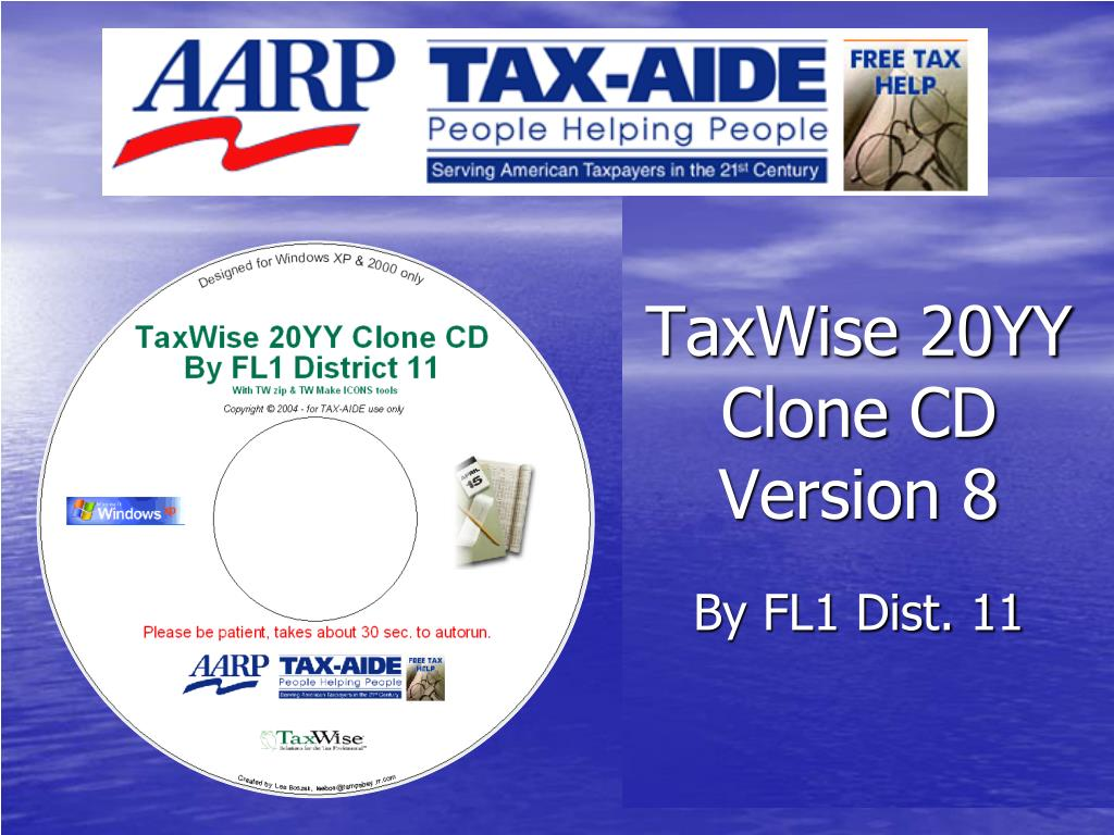taxwise 20yy clone cd version 8 l.