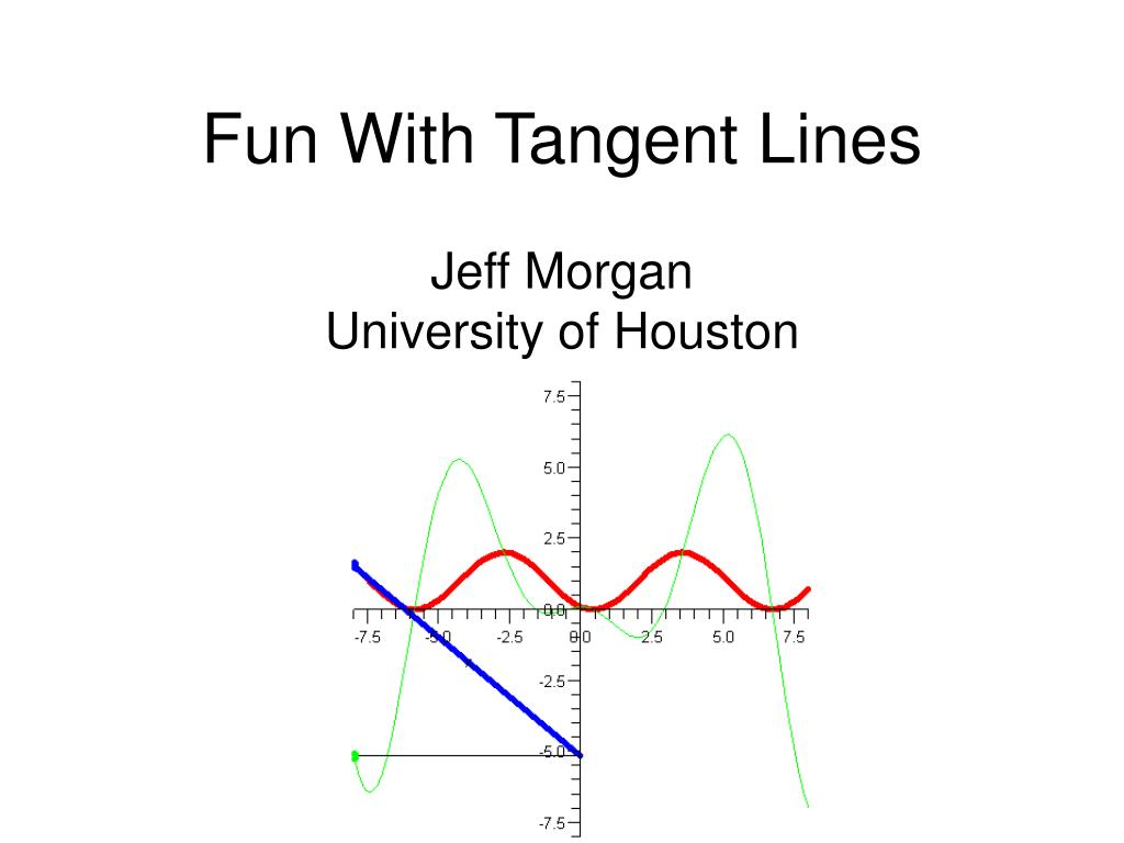 fun with tangent lines l.