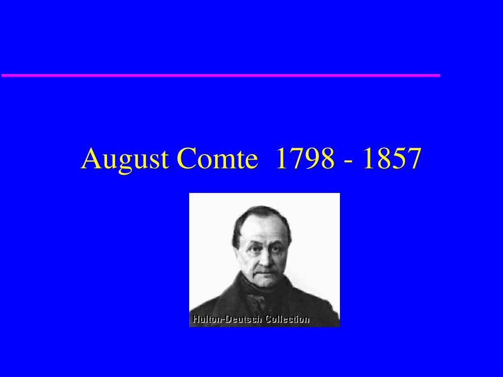 august comte 1798 1857 l.