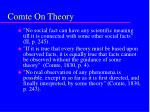comte on theory