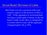 social bond division of labor51