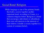 social bond religion