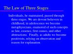 the law of three stages25