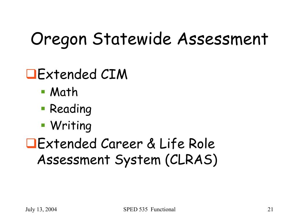 Oregon Statewide Assessment