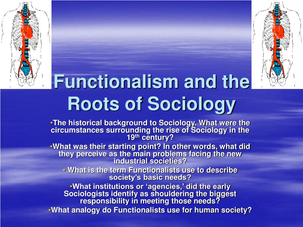 functionalism and the roots of sociology l.