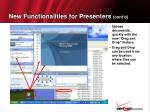 new functionalities for presenters cont d8