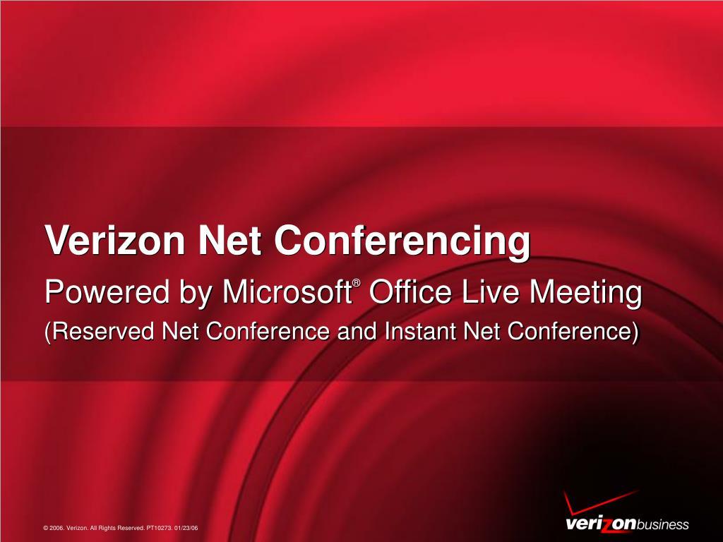 verizon net conferencing l.