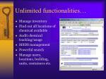 unlimited functionalities