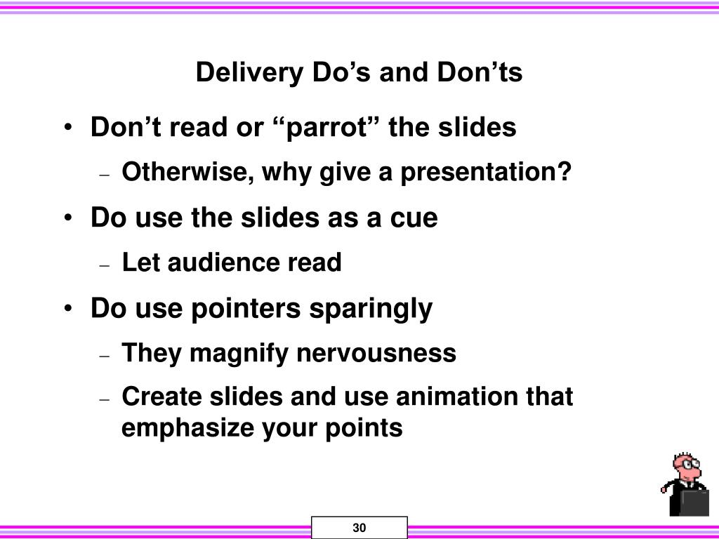Delivery Do's and Don'ts