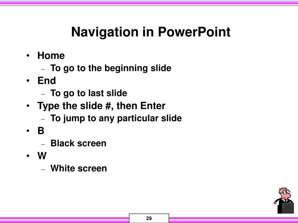 Navigation in PowerPoint