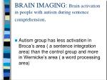brain imaging brain activation in people with autism during sentence comprehension