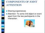 components of joint attention