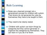 rule learning