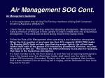 air management sog cont