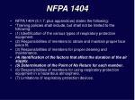 nfpa 1404