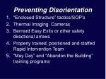 preventing disorientation
